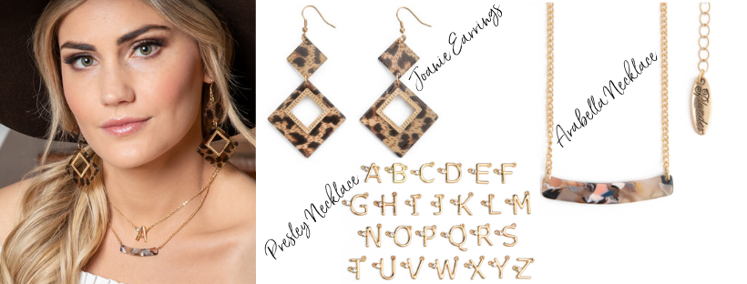 Plunder Pavlina Leopard Print Jewelry set