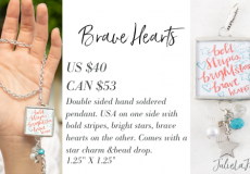 Brave Hearts Plunder Jewelry Pendant