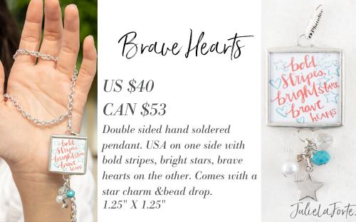 Brave Hearts Plunder Jewelry Pendant