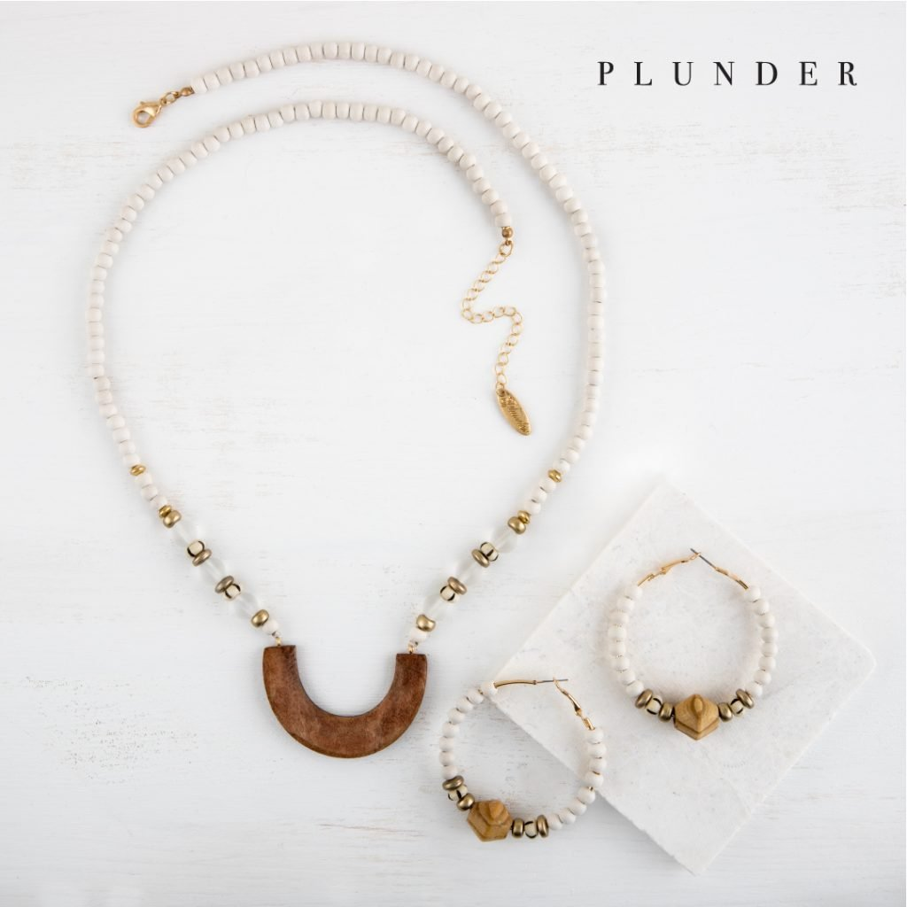 June Plunder Posse necklace and earrings
