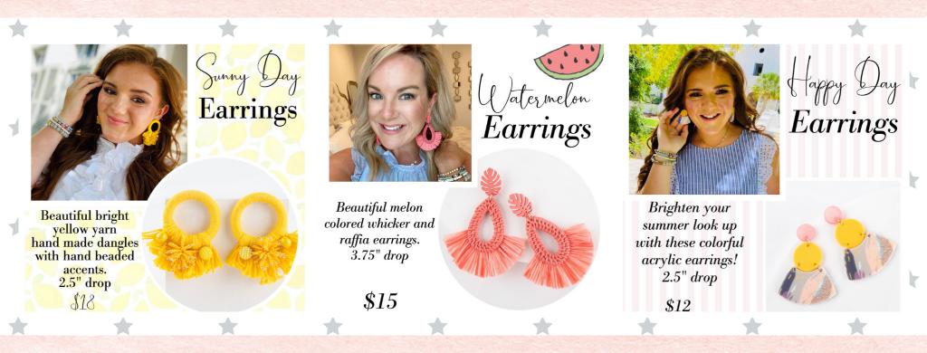 Plunder Design Jewelry Drop Summer Earrings