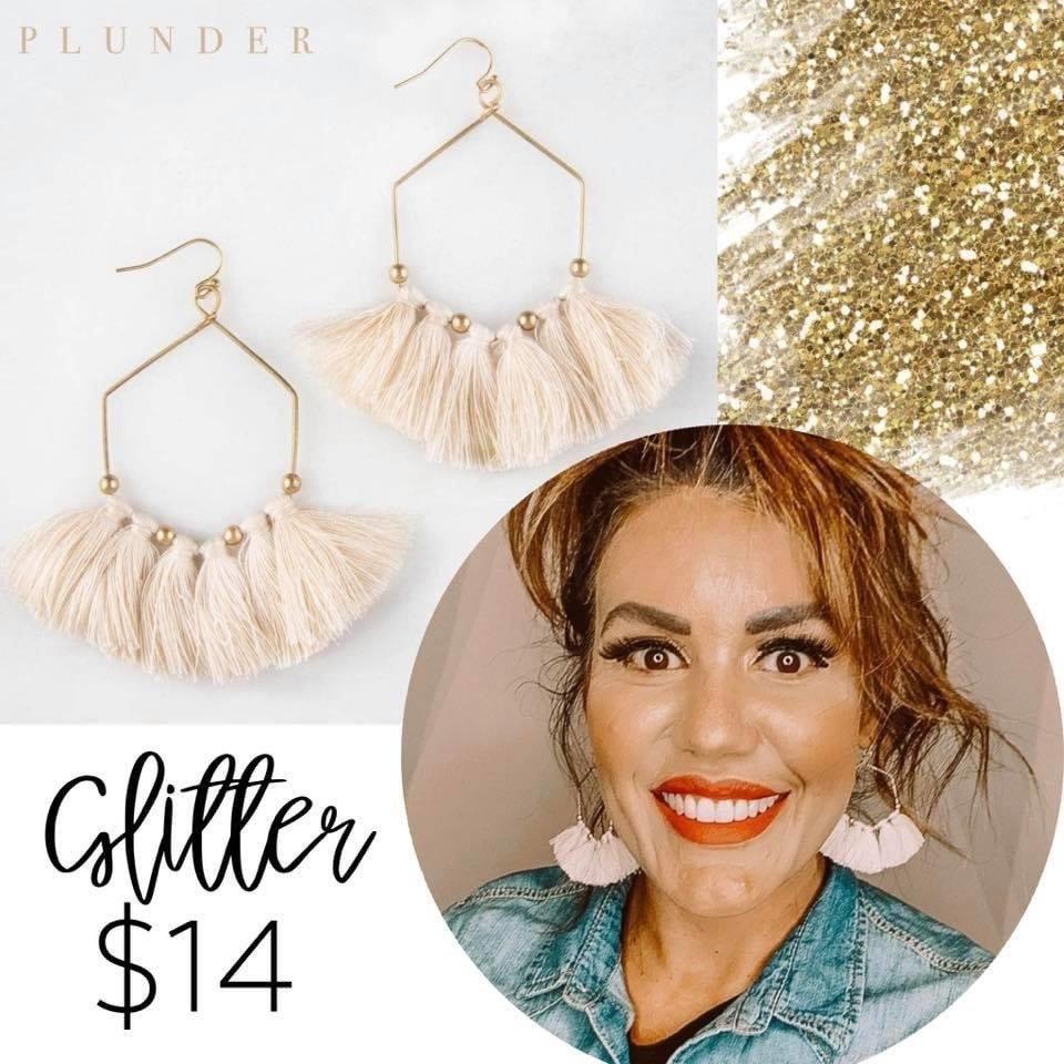Plunder Design Gold Rush Glitter Earrings