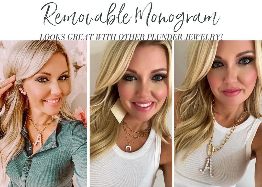Plunder Design Pearls  removable monogram