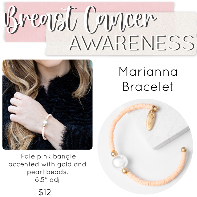 Breast Cancer Awareness Jewelry Drop Bracelet  – Plunder Design