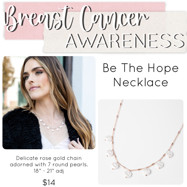 Breast Cancer Awareness Jewelry Drop necklace– Plunder Design