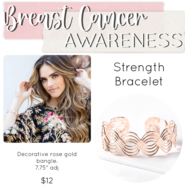 Breast Cancer Awareness Jewelry Drop Bracelet– Plunder Design