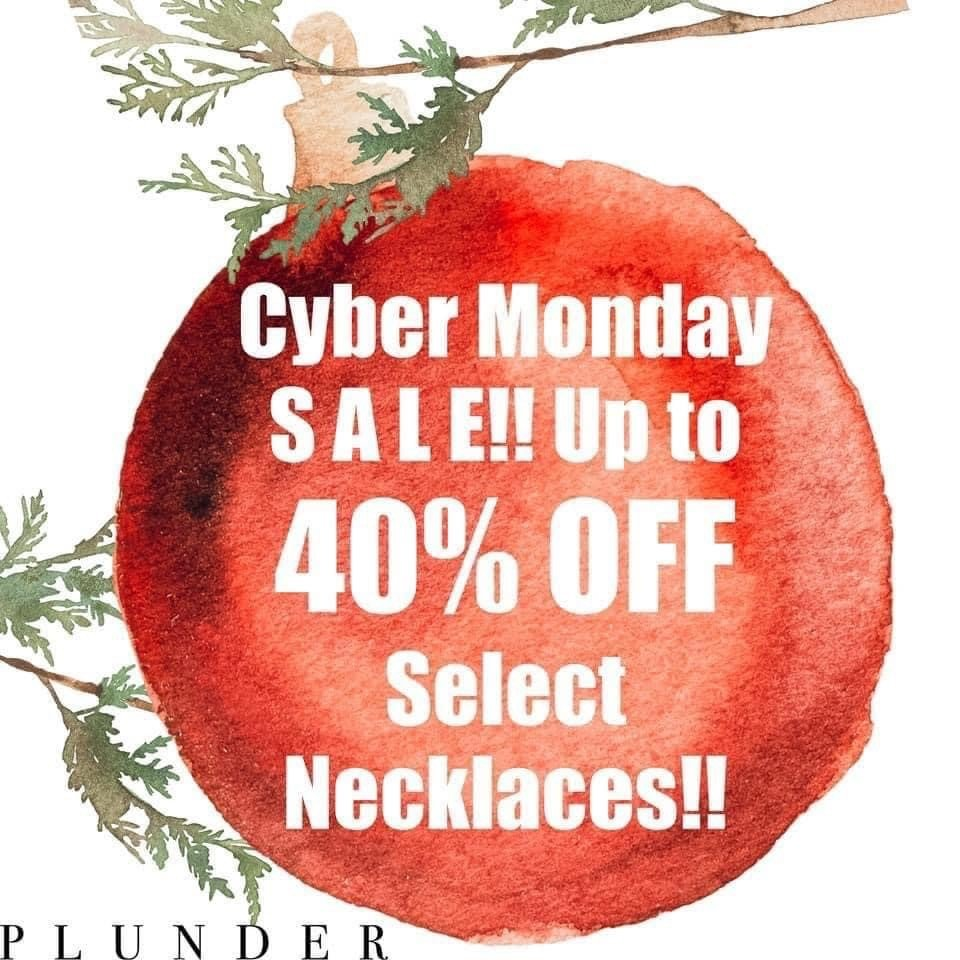 Cyber Monday Deal Plunder Design Jewelry Sale