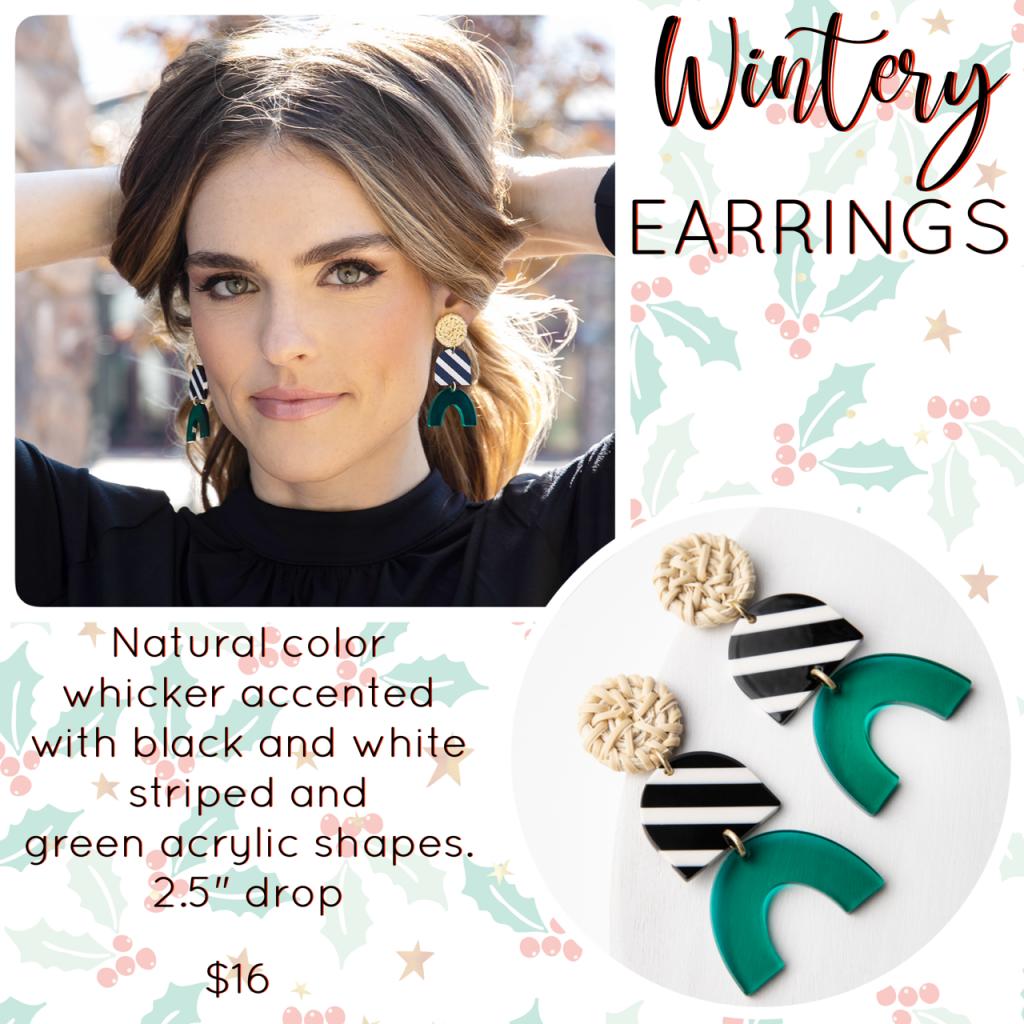 Plunder Design wintery earrings