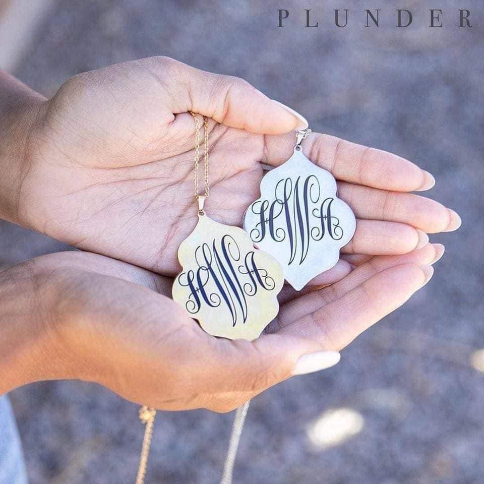 "Christmas ""Personalized"" – Monogram Jewelry Plunder Design"