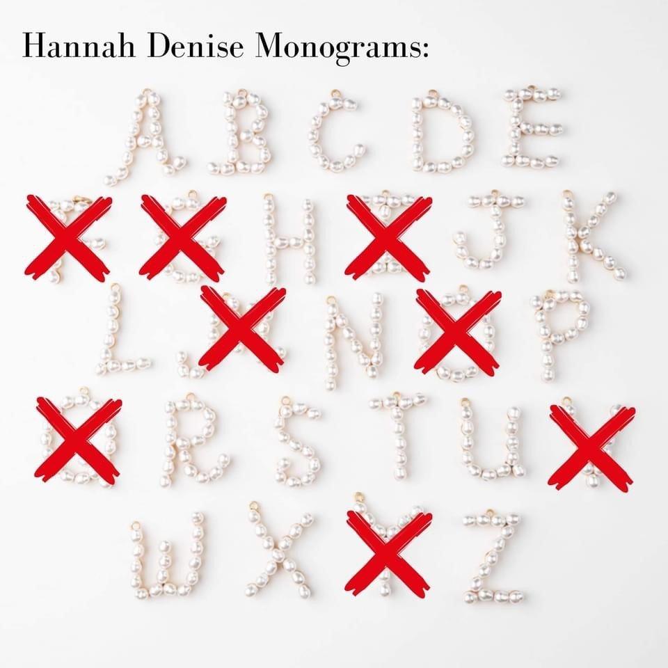 Hannah denise monograms