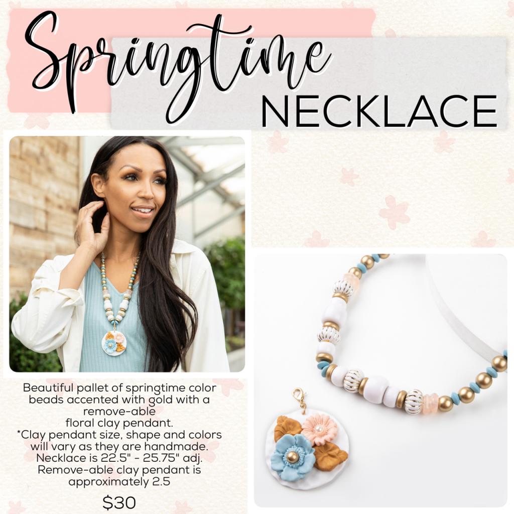 Easter Plunder Jewelry Drop Springtime Necklace