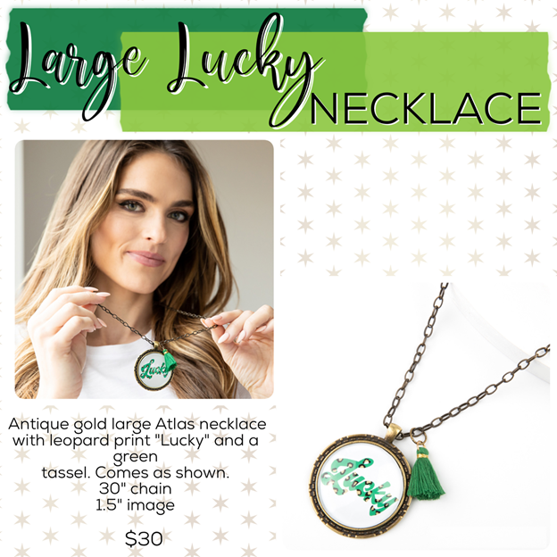 St. Patrick's Day Jewelry Drop – Plunder Design Jewelry Large Lucky Necklace
