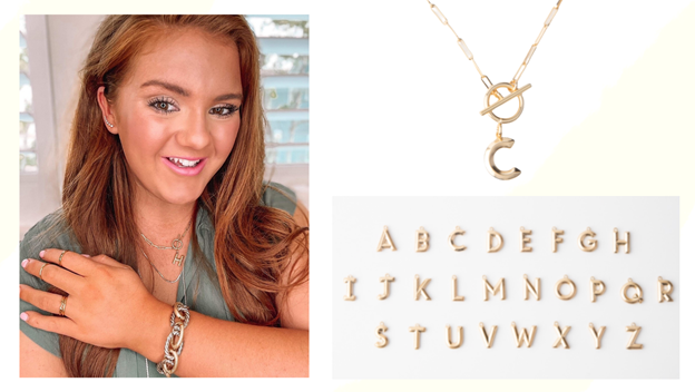Jewelry Box Staples Alphabet Necklace