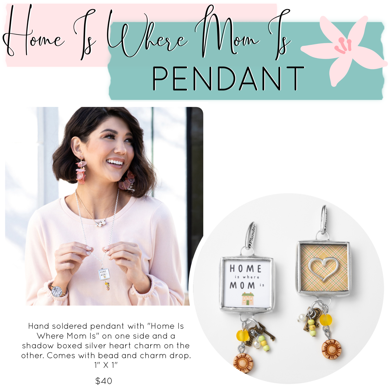 Mother's Day Jewelry Drop – Plunder Design Jewelry Home Is Where Mom Is Pendant