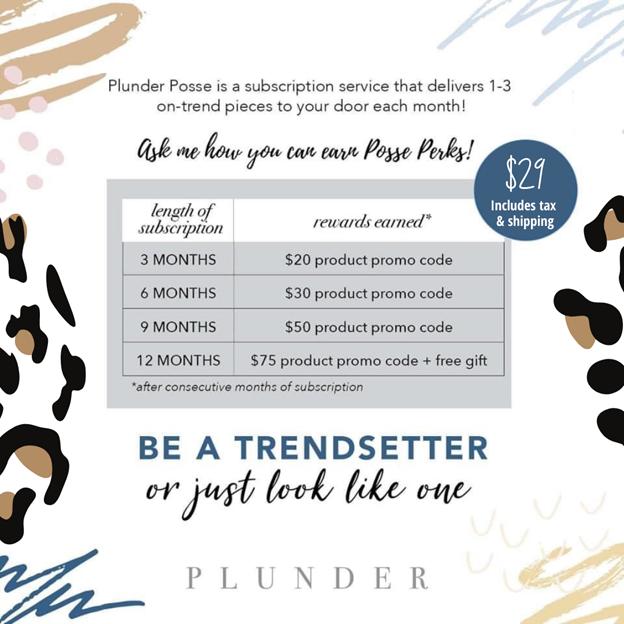September Plunder Posse Perks